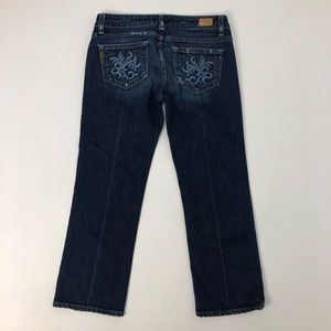 Paige Lorrel Canyon Distressed Cropped Jeans 26